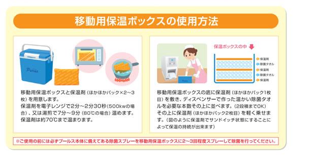 お食事の時のお手拭きに、患者さんのおむつの交換時に、患者さんの体の清拭に